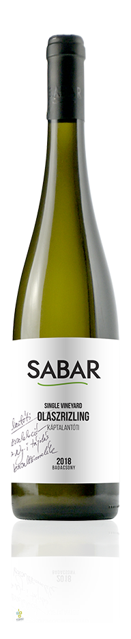 Sabar • Olaszrizling Single Vineyard • 2018